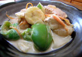 Thai Fish Curry - Kaeng Ped Pla / or Tofu. Photo by Rinshinomori