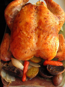 Garlic Roast Chicken (Barefoot Contessa). Photo by flower7