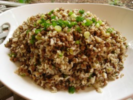 Cajun Dirty Rice Dressing. Photo by gailanng