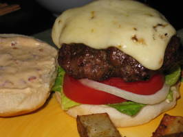 Jamaican Jerk Burgers With Orange-Chipotle Mayonnaise. Photo by Charmie777