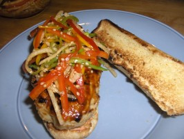 Chinese Chicken Burgers With Rainbow Sesame Slaw-Contest Winner!. Photo by Slatts