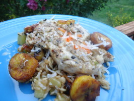 Mojito Chicken With Plantain Fried Rice. Photo by LifeIsGood