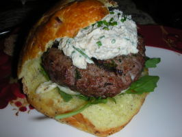 Pub Patties (Burgers) With Horseradish Sauce and Cress. Photo by JackieOhNo!