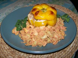 Stuffed Peppers With Tortellini. Photo by Chef PotPie