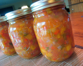 Peach & Tomato Salsa. Photo by yogiclarebear