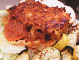 Bird's Pizza Style Lasagna. Photo by Lavender Lynn