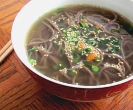 Bachelor's Soba Noodle Soup. Photo by Seedbeads