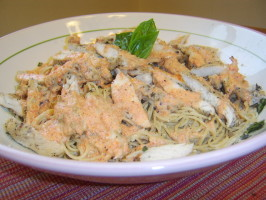 Chicken With a Red Pepper Cream Sauce. Photo by LifeIsGood