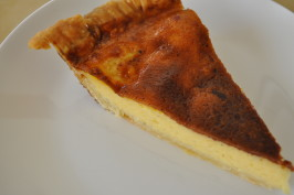 Old-Fashioned Baked Egg Custard Tart With Nutmeg. Photo by I'mPat