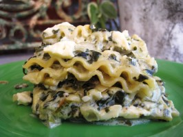 Artichoke Spinach Lasagna. Photo by gailanng