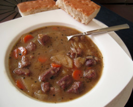 Queen Victoria's Brown Windsor Soup. Photo by Caroline Cooks