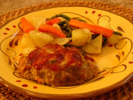 Turkey Mini-Meatloaves With Roasted Root Veggies. Photo by WiGal