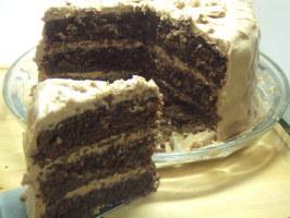 V's Chocolate Coma Cake (Triple Layer). Photo by Vseward (Chef~V)