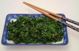 Gomae - Japanese Style Spinach Salad. Photo by TasteTester