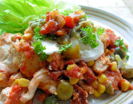 Smoky Chicken and Chorizo Mexican Enchilada Baked Casserole. Photo by French Tart