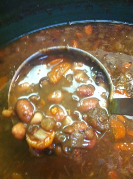13 Bean Crock Pot Soup. Photo by MarlaB7