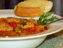 Tri-Colour Stuffed Pepper Soup. Photo by PleasantNancy