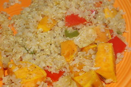 Quinoa, Sweet Potato and Peppers. Photo by Linky1