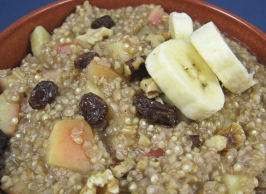 Quinoa and Oatmeal  Cereal Heart Healthy. Photo by Kathy at Food.com