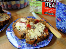 Yorkshire Tea Loaf With Mixed Spice, Cherries and Raisins. Photo by French Tart