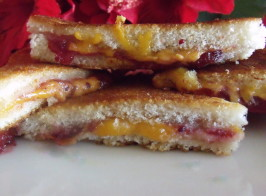 Farmhouse Cheddar Cheese and Cranberry Croque Monsieur Toasties. Photo by Darkhunter