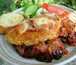 Oven Baked Chicken and Aubergine (Egg Plant) Parmigiana. Photo by French Tart