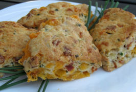 Bacon-Cheddar-Chive Scones. Photo by K9 Owned