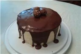 Paula Deen's Chocolate Ganache Cake. Photo by Okra Gal