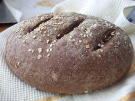 German Dark Rye Bread. Photo by Baker30