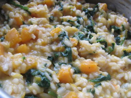Butternut Squash Risotto With Spinach and Toasted Pine Nuts. Photo by JanuaryBride