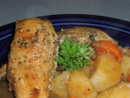 Beer-Braised Rabbit (Or Chicken) for the Crock Pot. Photo by TeresaS