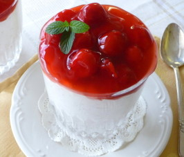 Danish Christmas Rice Pudding With Almonds and Warm Cherry Sauce. Photo by BecR