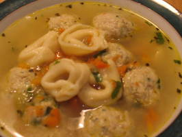 Chicken Meatball and Tortellini Soup - Tyler Florence. Photo by Chicagoland Chef du Jour