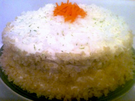Tropical Carrot Layer Cake With Island Icing. Photo by The Spice Guru
