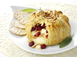 Cranberry & Toasted Almond Brie En Croute. Photo by Fisher Nuts