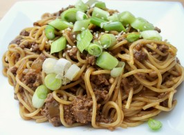 Szechuan Noodles With Spicy Beef Sauce. Photo by *Parsley*