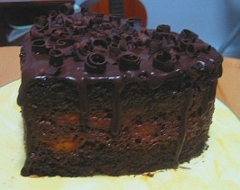 Chocolate Layer Cake with Chocolate Glaze. Photo by WaterMelon