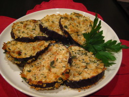 Oven Fried Eggplant (Aubergine). Photo by Cookin'Diva