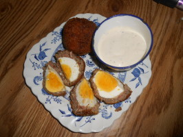 Twisted Scotch Egg #RSC. Photo by pammyowl