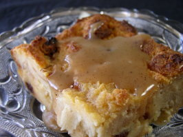 Creole Bread Pudding With Bourbon Sauce. Photo by Bayhill