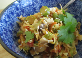Shiver Me Timbers Thai Inspired Cole Slaw. Photo by Rita~