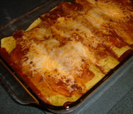 Easy Veggie Enchiladas With Quick Sauce. Photo by newspapergal