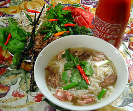 Pho by Mean Chef (Vietnamese Beef & Rice-Noodle Soup). Photo by Sue Lau