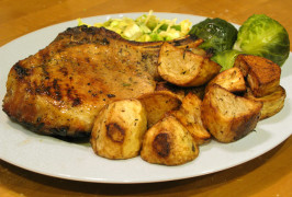 Grilled Pork Chops With Herb Rub. Photo by Pasty Cornish