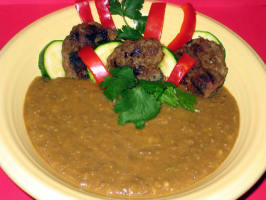 Middle Eastern Lentil & Kofta Bowl by Sy. Photo by Susie D