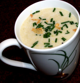 Roasted Garlic and Leek Soup. Photo by Rita~