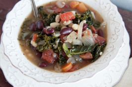 Healthy Bean Soup With Kale. Photo by Dine & Dish