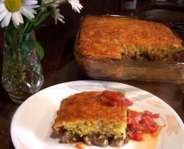 Tamale Pie With Cheddar & Cornmeal Crust. Photo by Rita~