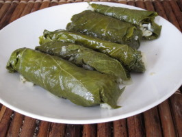 Dolmathes (Stuffed Grape Leaves). Photo by Dr. Jenny