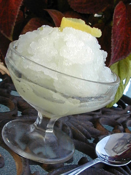 Italian Lemon Ice (Granita). Photo by ms_bold